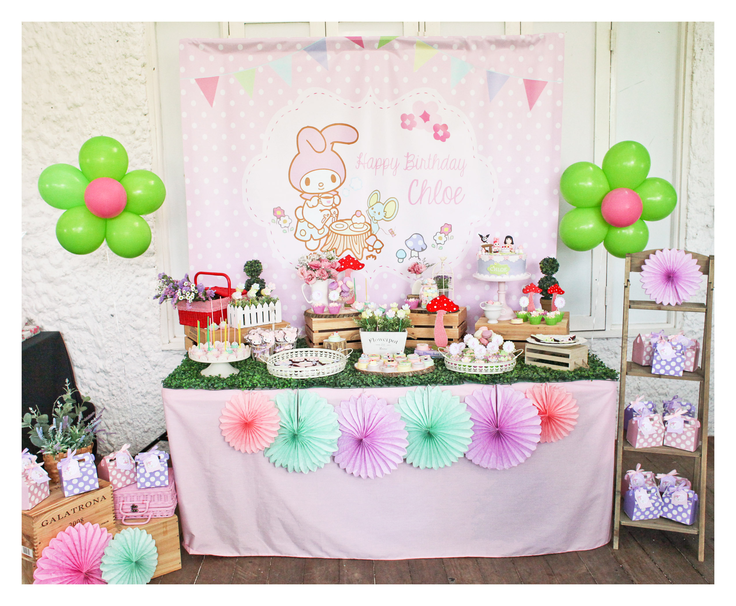 Chloe S My Melody Birthday Party Colour It Sweet