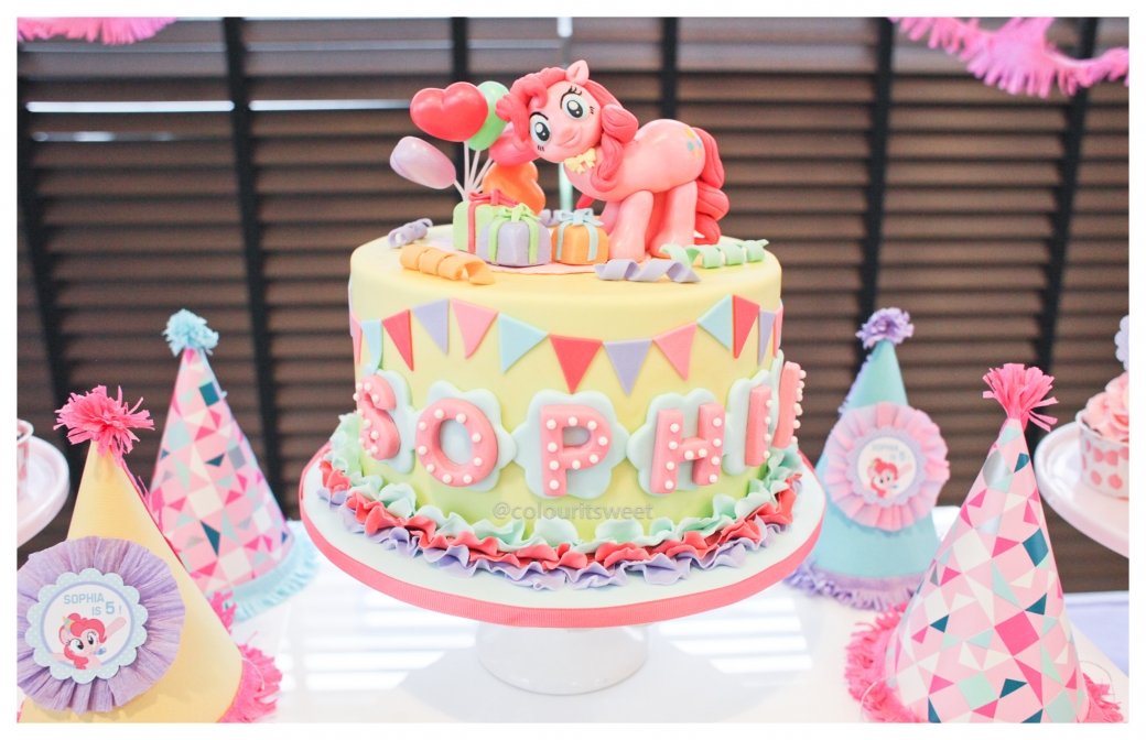 Sophia S 5th Birthday Pinkie Pie Colour It Sweet Cake Images
