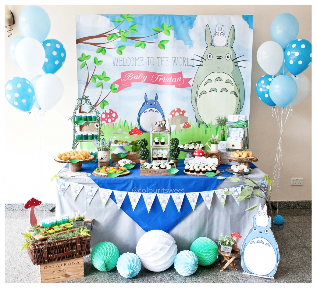 Baby Tristan Totoro Full Month Party 187 Colour It Sweet