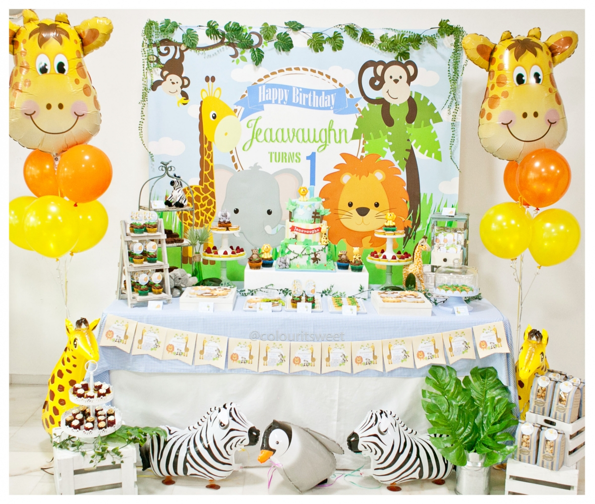 Party Animal 1st Birthday First Birthday Ideas: Jeaavaughn's 1st Birthday Animal Party! » Colour It Sweet